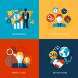 Business and management set Royalty Free Stock Photo