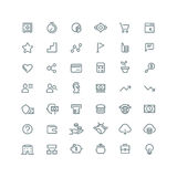 Business management, strategy, career vector line icons set Royalty Free Stock Images