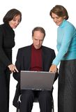 Business Management Team on Laptop Royalty Free Stock Photo