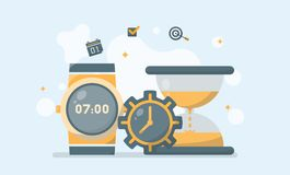 Business Management and Time Management Concept Vector Illustrat vector illustration