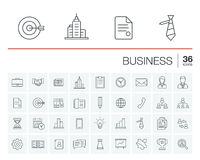 Business and management vector icons Stock Images