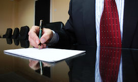 Business Manager. Signing contract, business concept Royalty Free Stock Image
