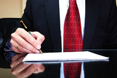 Business Manager. Signing contract, business concept Stock Photography