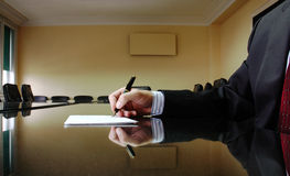 Business Manager. Signing contract, business concept Stock Photo