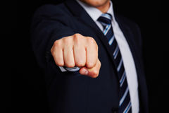Business manager with clenched fist Royalty Free Stock Photography
