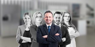 Business manager and company people Stock Image