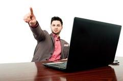 Business manager firing an employee Stock Photo