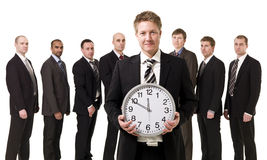 Business manager in front of his team Stock Images