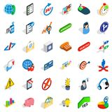 Business manager icons set, isometric style. Business manager icons set. Isometric set of 36 business manager vector icons for web isolated on white background Royalty Free Stock Images
