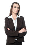 Business manager posing with her arms crossed Royalty Free Stock Images