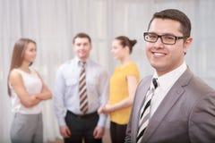 Business Manager przy spotkaniem Fotografia Royalty Free