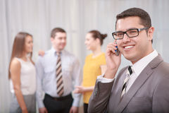 Business Manager przy spotkaniem Fotografia Stock