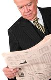 Business manager reading newspaper Stock Photography