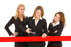 Business: Manager Ready To Cut Ribbon Royalty Free Stock Photography