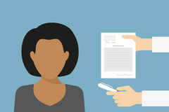 Business manager signing contract vector illustration