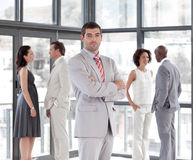 Business manager with team Royalty Free Stock Photo