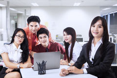 Business manager and team in office Royalty Free Stock Photography