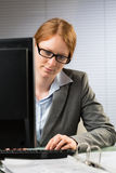 Business Manager Works in an Office Royalty Free Stock Photography