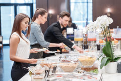 Business managers at business lunch Stock Photography