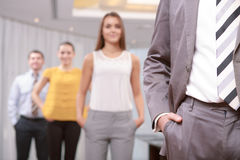 Business managers at work Stock Images
