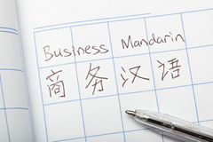 Business Mandarin Royalty Free Stock Photography