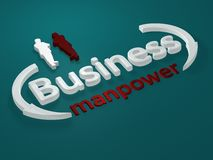 Business - Manpower - letters Stock Images