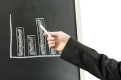 Business man's hand showing graph Stock Image