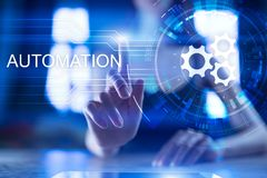 Business and manufacturing process Automation, smart industry, innovation and modern technology concept. Business and manufacturing process Automation, smart stock photos