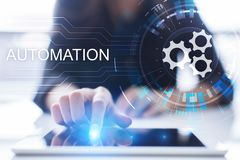 Business and manufacturing process Automation, smart industry, innovation and modern technology concept. Business and manufacturing process Automation, smart royalty free stock photo