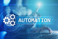 Business and manufacturing process Automation, smart industry, innovation and modern technology concept. Business and manufacturing process Automation, smart stock image
