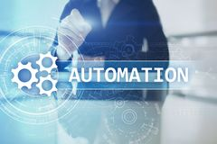 Business and manufacturing process Automation, smart industry, innovation and modern technology concept. Business and manufacturing process Automation, smart royalty free stock images