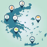 Business map of Greece Stock Image