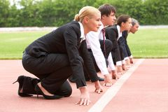 Business marathon Stock Photo