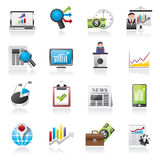 Business and Market analysis icons Stock Image
