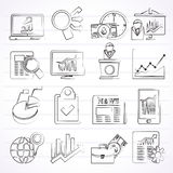 Business and Market analysis icons Stock Photography