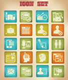 Business,Marketing & Advertise icons,Vintage version Royalty Free Stock Images