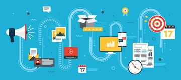 Business marketing, analytics and strategy in vector design. Stock Photos