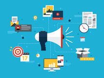 Business marketing, analytics and strategy in vector design. Stock Image