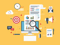 Business marketing, analytics and strategy in vector design. Royalty Free Stock Photography