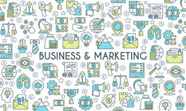 Business and marketing banner Royalty Free Stock Photos