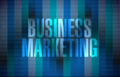 Business Marketing binary sign concept Stock Photo