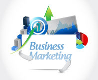 Business marketing business diagram concept Royalty Free Stock Images