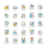 Business and marketing flat icons royalty free illustration