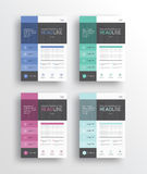 Business marketing flyer /brochure/poster/ and report design template. Set business marketing flyer /brochure/poster/ and report design template/ .vector eps 10 Royalty Free Stock Photo