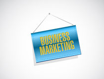Business Marketing hanging banner sign concept Stock Images