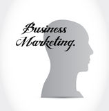 Business Marketing head sign concept Stock Photo