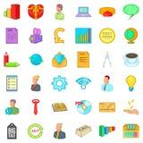 Business marketing icons set, cartoon style Royalty Free Stock Photo