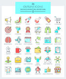 Business and Marketing Icons Royalty Free Stock Photography