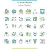 Business and marketing icons Royalty Free Stock Photos