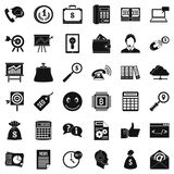 Business marketing icons set, simple style Royalty Free Stock Photo